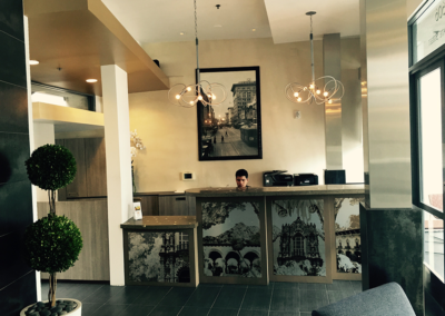 Hotel Front desk and lobby