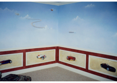 Color design for architectural features; wainscot, walls, decorative painting