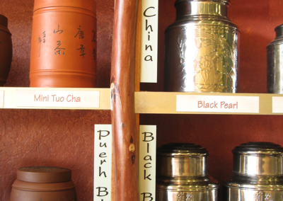 Detail of display - Infusions tea house