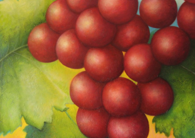 Bunch of grapes - tribute to wine country - custom wall piece