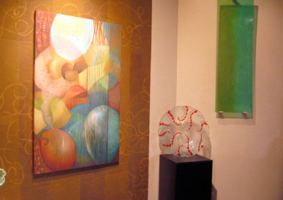 Transanimation details- wall mural and painting by Martha Channer