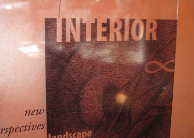 Interior Exterior- entry sign for immersive installation