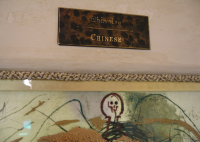 Dali exhibit - engraved placards and recessed mountings