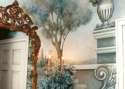 French 18th century style full room mural