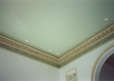 Color design for ceiling and decorative moldings