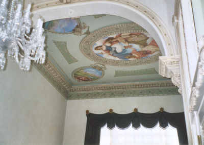 Color design for walls, ceiling, moldings, and murals