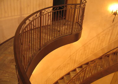Windsor staircase with custom bronze finish